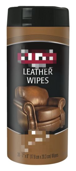 Leather Wipes, 7 X 8 Inches, 30 Wipes, White