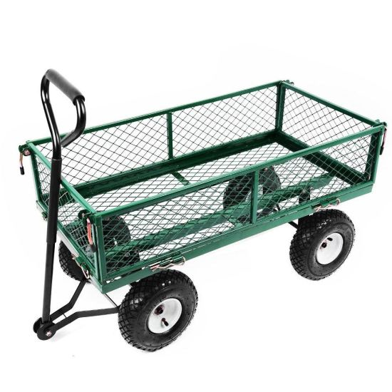 Bon UK Durable Metal Steel Tool Garden Cart