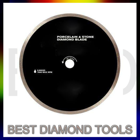 Continuous Wet Cutting Super Hi Rim Diamond Saw Blade For Tile And Marble