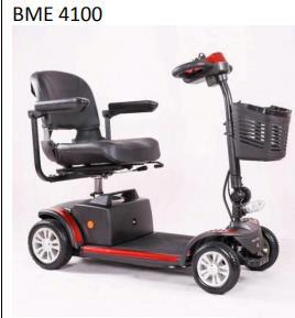 4 Wheel Electric Mobility Scooters for Disabled