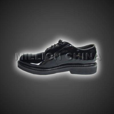 2017 New Design Black Shiny Official Shoe for Men