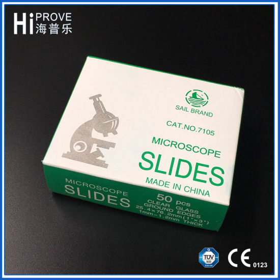 china medical prepared single frosted end microscope slides 7105