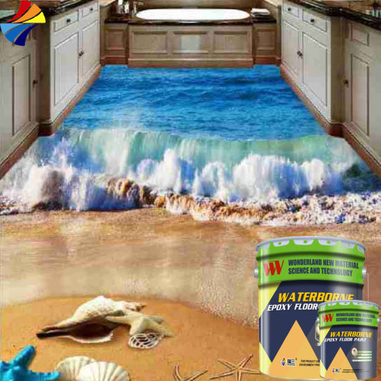 China Cm 104 Solvent Free Double Components Epoxy 3d Floor Paint
