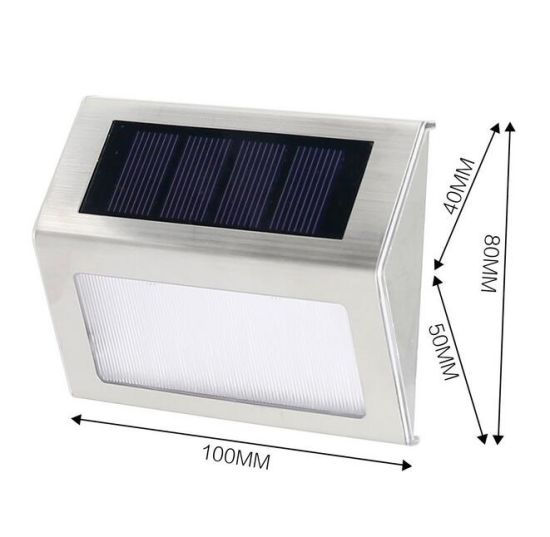 Solar Lamp 2LED Warm Light Solar Garden Light Solar Pathway Wall Fence Light Solar Lawn Light pictures & photos