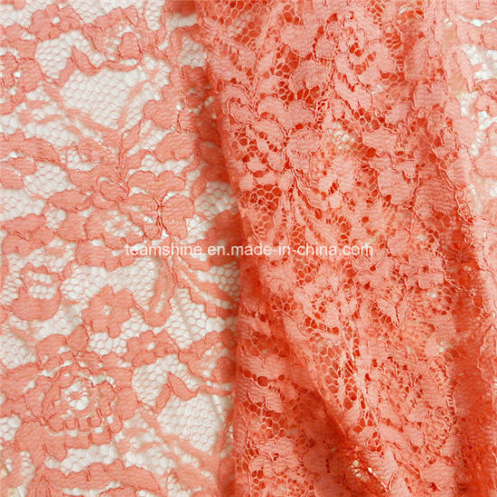 Red Cotton Nylon Crochet Swiss Chemical Lace Fabric (NF1003) pictures & photos