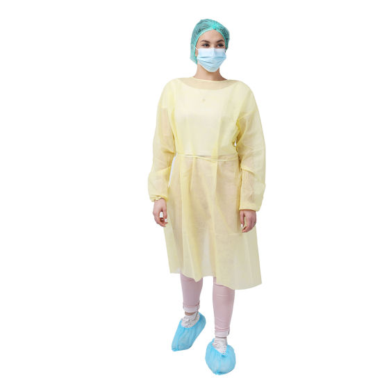10 Pcs EN 13795-1Sonically Sealed Seams Disposable Isolation Gown