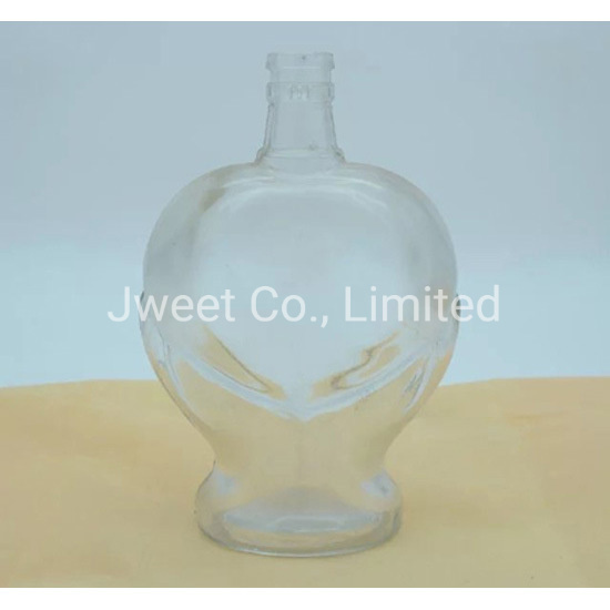 1000ml Pear-Shaped Spirit Whisky Alcoholic Glass Bottle with Rubber Stopper