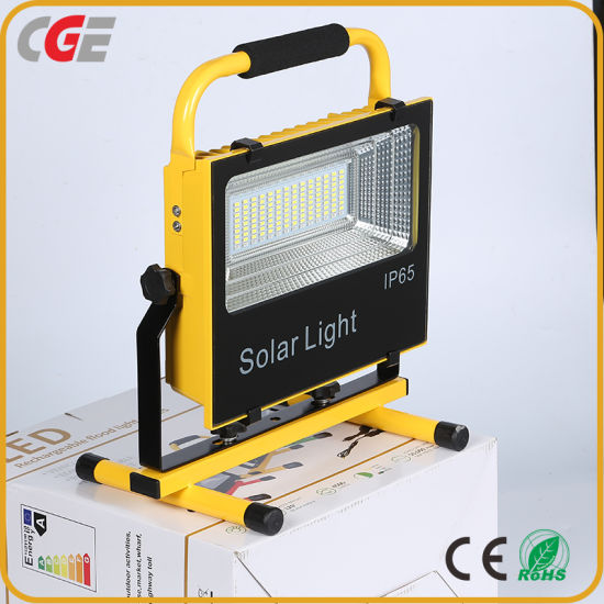 Camping Consduction Rechargeable IP65 100watt Integrated All in One Solar LED Floodlight