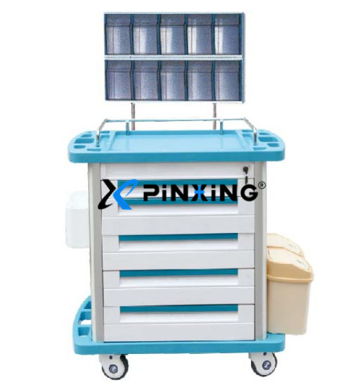 5 Drawers ABS Anesthesia Trolley