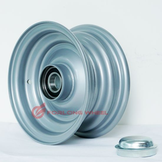 Top Quality Forlong Brand 4.00X9 Steel Rim with Bearing for Mounting Tire 6.00-9 for Trailer Caravan Use