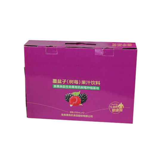 China Supplier Custom Made Corrugated Paper Board Color Printed Purple Carton Box