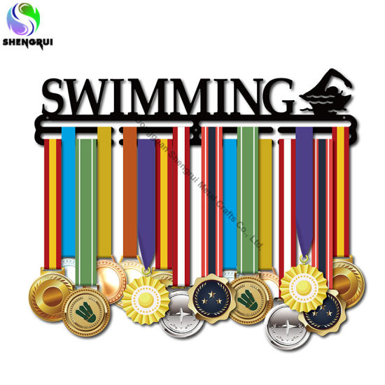Swimming Medal Display Hanger Home Decor Medal Hanger for Swimmers