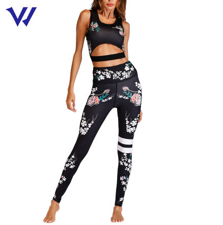 Hot Sale Breathable Gym Wear Women Sexy Fitness Yoga Sets Active Bra and Leggings for Women Yoga