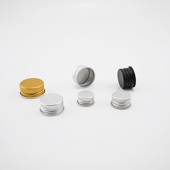 Aluminum Screw Caps with Gold Silver Color