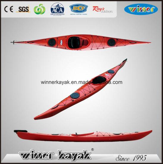 China 5 1m Speed Single Sit in Ocean Touring Canoe Kayak