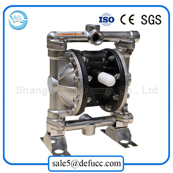 Stainless Steel Air Pneumatic Double Diaphragm Chemical Process Pump pictures & photos