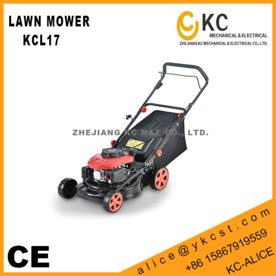 [Hot Item] 2016 New 17inches 430mm Cutting Width Steel Deck Hand Push  Portable Petrol Lawn Mower Kcl17 with Kc, Loncin, Zongshen, B&S Engine  Choice