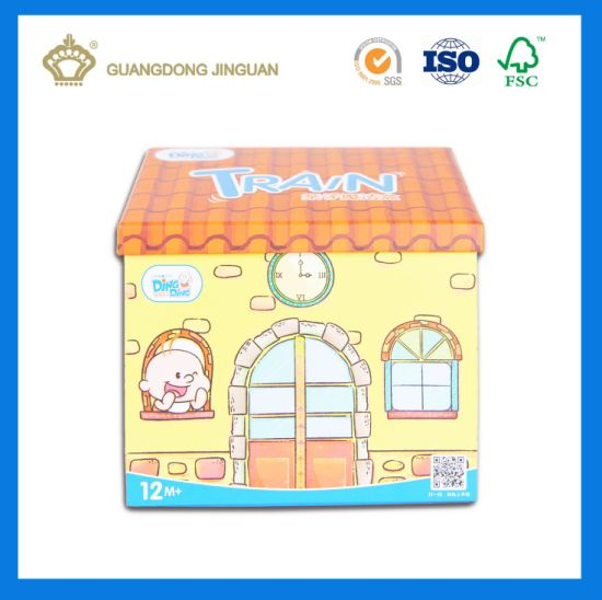 Colored Paper House Shape Top-Grade Toy Packaging Box (with magnetic) pictures & photos