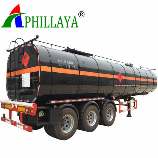Heating Asphalt Tank Semi Trailer Bitumen Tanker (03) pictures & photos