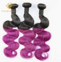 Virgin Hair Weft Ombre Human Hair Weaving