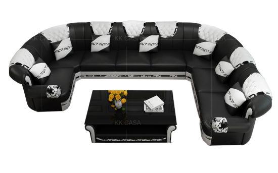 U Shape Leather Sofa For Living Room