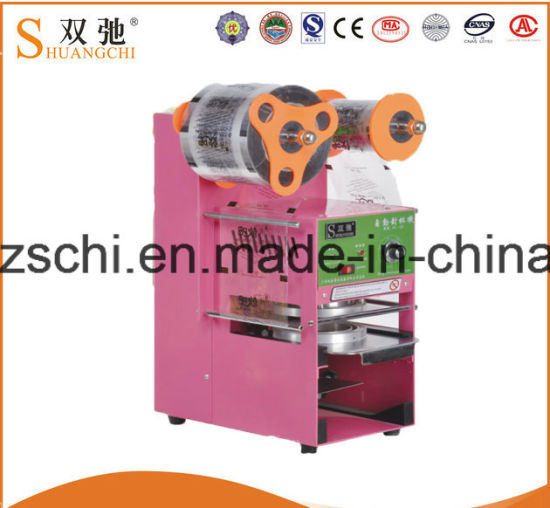 Cup Sealing Machine with Automatic Cup Sealer Machine pictures & photos