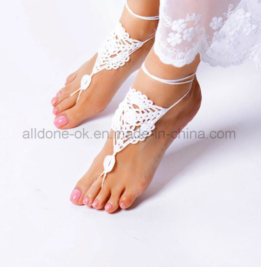 Crochet Barefoot Sandals Wedding Gift Yoga Socks pictures & photos