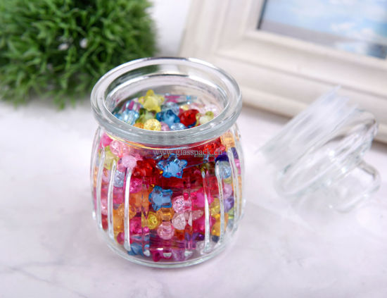 300ml Flint Glass Moisture-Proof Storage Jars for Kitchen Storage with Mushroom Cover