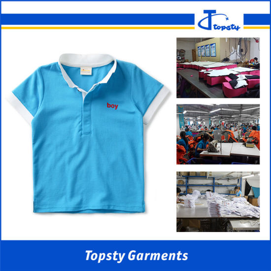 Wholesale Cotton Boy Polo Shirt, High Quality Children′s Polo Shirts pictures & photos
