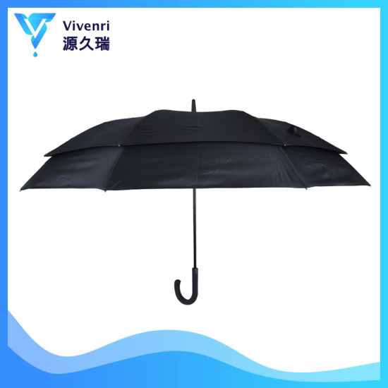 30 Inch Double Layers Canopies Auto Open Branded Golf Umbrella