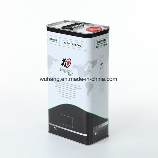 5L Square Ink Tin Cans Metal Containers for Auto Finishes