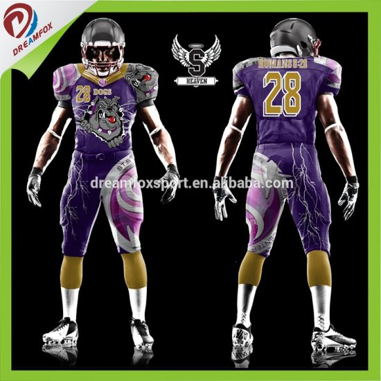 5c55a4010 Latest Design Dry Fit Custom Sublimation American Football Jersey Design