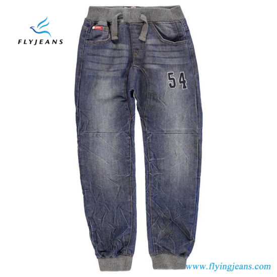 da4ca236b3 Hot Sale Embroidered Boys Denim Jeans with Elasticated Waistband by Fly  Jeans