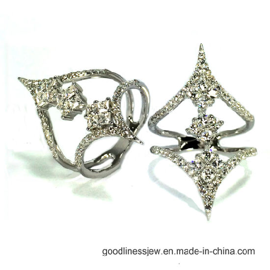 2017 New Style 925 Silver Ring Whit Sparky 3A CZ (R10730) pictures & photos