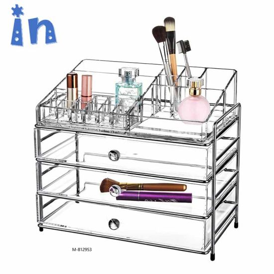 e750a3d3fc24 China Clear Makeup Cosmetic Organizer Storage Drawers Display Boxes ...