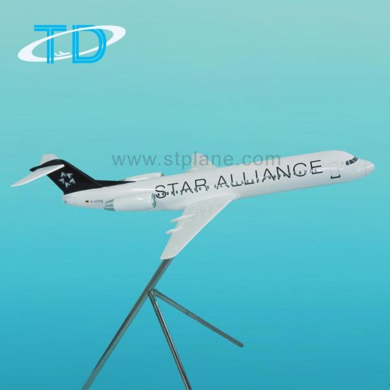 Star Alliance Fokker 100 Civil Airplane Resin Display Model pictures & photos