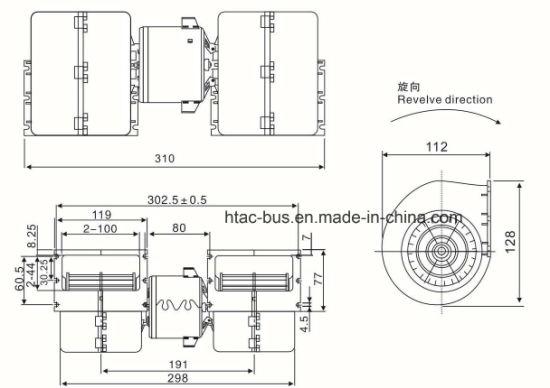 Surprising China Auto Ac Parts Blower 310 Mm 24V Spal 008 B45 22 Yutong 8114 Wiring Cloud Nuvitbieswglorg