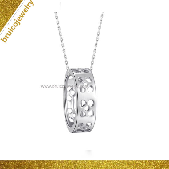 Fashion Wholesale Jewellery 925 Sterling Silver 9K 14K 18K Gold Jewelry Charm Necklace with Heart Design