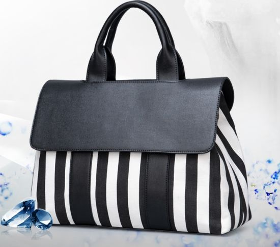 Ladies Handbag Hand Bags High Quality Replica Handbag Black and White Hot Sell Shoulder Lady Bag Simple Women Bag Women Bag Lady Handbag (WDL0115) pictures & photos