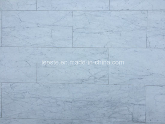 China Hot Sell Bianco Carrara White Marble Tile For Flooring China