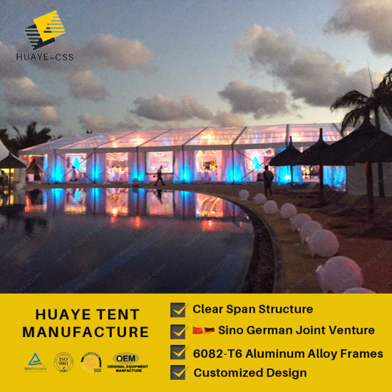 German Quality Aluminum Frame Clear Pvc Tent For Hy125b