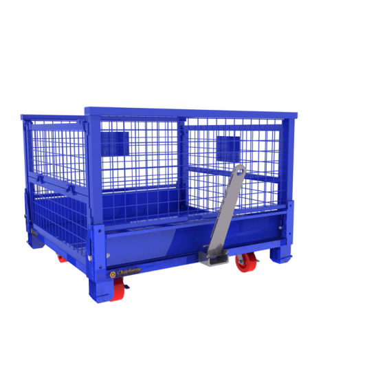 Warehouse Customized Collapsible Steel Container Wire Mesh Pallet Box Cage