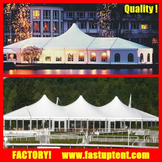 15X20m High Peak Mixed Dome Wedding Tent for 300 Seater