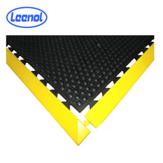 Yellow and Black ESD Anti-Fatigue PVC Material Antistatic Floor Mat