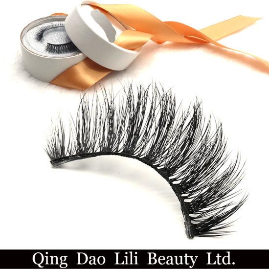 Soft New Design Fake PBT Fiber Synthetic False Mink Eyelashes 3D Silk Lashes