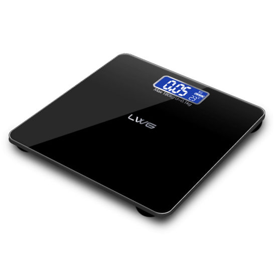 Tempered Glass 180kg Electronic Body Weighing Bathroom Scale