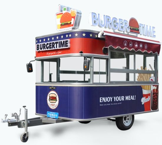Mobile Food Trailer with Different Catering Equipment and Beautiful Design