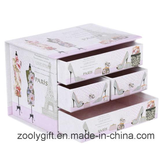 Ordinaire Decorative Printing Cardboard Paper Drawer Storage Organizer Box