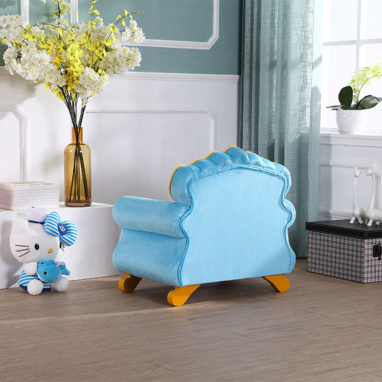 European Hot Sale Solid Wood with Fabric Sofa Set/Children Furniture pictures & photos