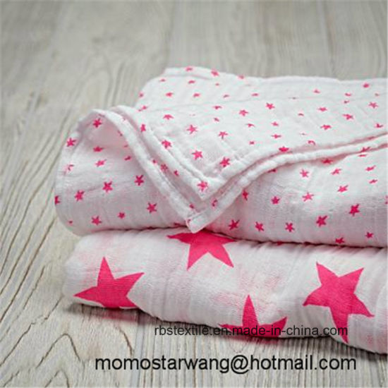 Soft Muslin Baby Swaddle Blanket Set with High Quality pictures & photos